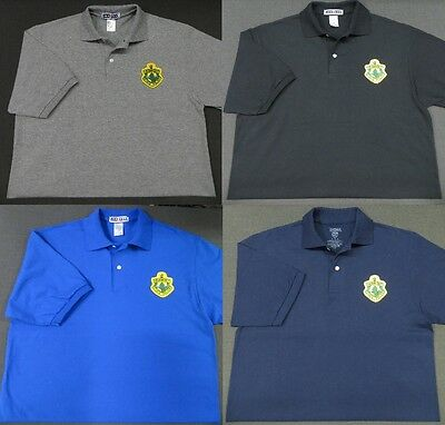 Vermont State Police Patch Polo Shirt - MED to 3XL - 4 Colors - NEW