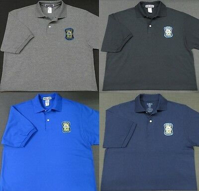 Kansas Highway Patrol Police Patch Polo Shirt - MED to 3XL - 4 Colors - NEW