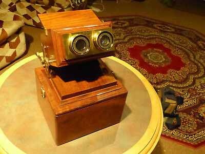 Stereoscope Achromatic Stereo viewer by Smith,Beck & Beck, Brass & Mahogany