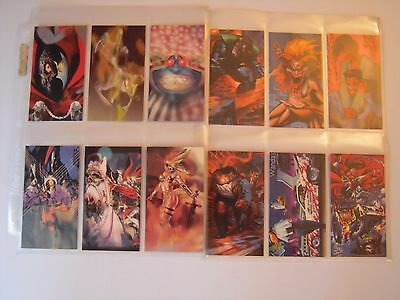 Spawn Oversized  Trading Cards Subset  Complet De 12 Painted  Cards  1995 Tbe