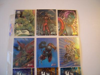 Image Univers Trading Cards  Set 6 Clear Chrome Cards    Rares  1995 Tbe