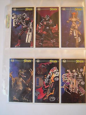 Spawn Oversized  Trading Cards Subset  Complet De 6 Cards  Tt1 A Tt6  1995 Tbe
