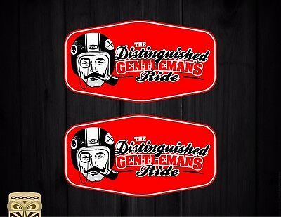 Pegatina Decal Sticker Autocollant  Aufkleber The Distinguished Gentlemans Ride