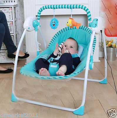 Fashion Blue Security Multi-Purpose Baby Swing Chair/Baby Rocking Chair AQ 1