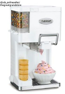 Soft Serve Ice Cream Machines Yogurt Maker Cuisinart Electric Automatic Sherbet