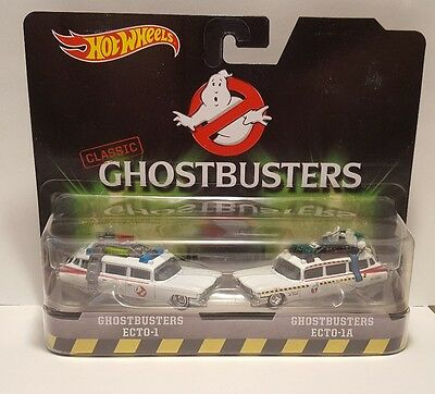 Hot Wheels Classic Ghostbusters 1 & 2 Ecto Car Set 1:64