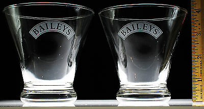 Baileys Cocktail Footed Glasses Lot of 2 Irish Whiskey Liqueur Whisky Tumbler