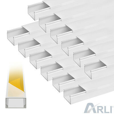 Cable channel self adhesive 60x40mm PVC 59.04 ft Installation trunking Electric