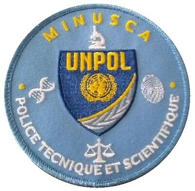 UNPOL UNITED NATIONS Police patch (FORENSIC CSI UNIT MISSION IN CENTER AFRICA)