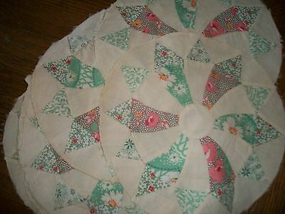 """22-Vtg. 12""""w-Hand Sewn Quilted Pieces-Pristine"""