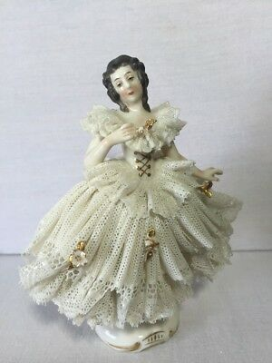 Dresden Meissen Germany Lace Porcelain Figurine 5.5""