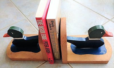 Set of Two Solid Wood Bookends