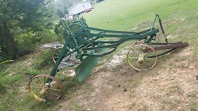 1878 Antique horse drawn  road grader