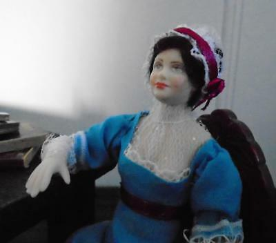 Jane Austen ART DOLL 12th scale regency Georgian HANDMADE new