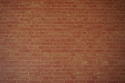 Dolls House 1/12th Scale Red Brick Wall paper