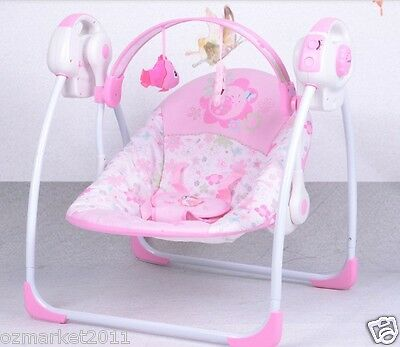 Pink Security Collapsible Electric Rocking Chair/Baby Rocking Chair !@&