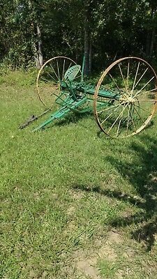 Antique horse drawn Hay Rake Farm Equipment; Antique; vintage