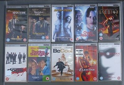 Lot Of Umd For Psp - Reservoir Dogs + Man On Fire + Riddick + Chain Reaction