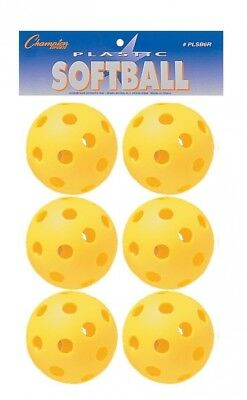 Champion Sports Yellow Plastic Softball. Shipping Included