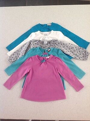 Girls Long Sleeve Top Bundle, 18-24m, John Lewis, Gap, Polarn, Excellent Cond