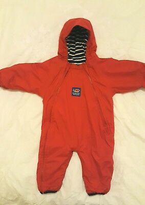 Jojo Maman Bebe Waterproof Fleece Lined Snowsuit 6-12 Months Red Boy or Girl