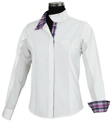 (1X LD) - Equine Couture Ladies Amber L/S Show Shirt. TuffRider. Best Price