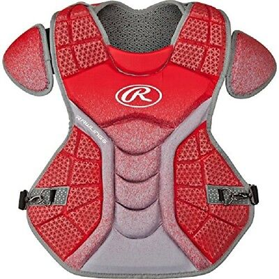 Rawlings CPVEL Red / Grey Velo Adult Chest Protector 43cm Ages 16 & Up