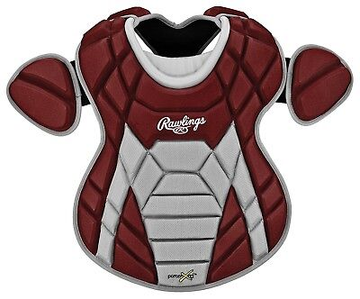 (Cardinal) - Rawlings XRDCP Youth Chest Protector. Shipping Included