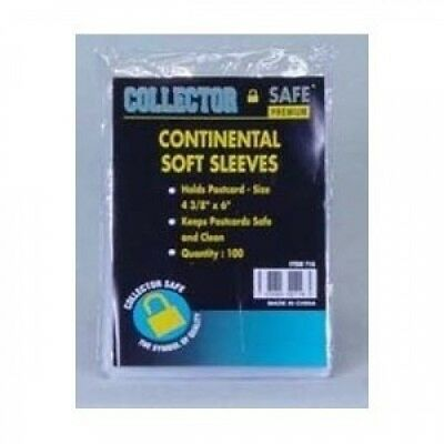 Collector Safe Continental Soft Sleeve (Qty= 5 packs of 100 sleeves)