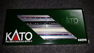 Kato N Scale Amfleet 1 Amtrak Phase 1 Coach Set. 2 car set. Set A NIB