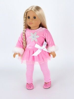 Doll Clothes 18 Inch Pants Pink Velour Stripe Fits American Girl Dolls