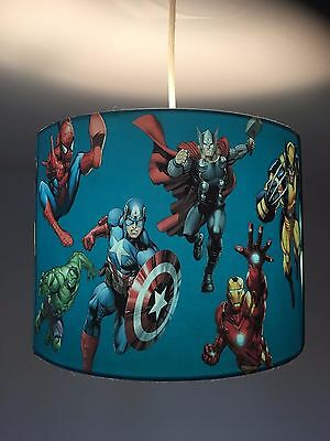 Marvel Super Hero 10 inch ceiling lampshade BLUE