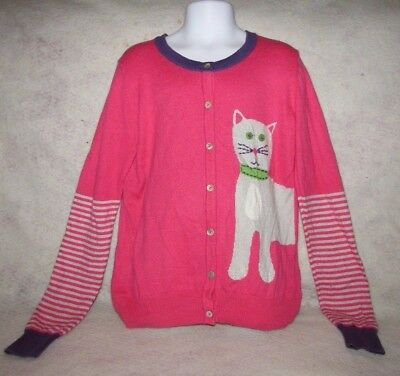 Mini Boden Cardigan Sweater with Cats size 9/10 years