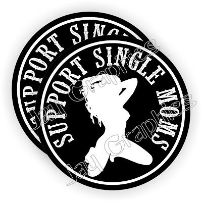 Single Moms Hard Hat Stickers ~ Babe Welding Helmet Decals Motorcycle ~ Stripper