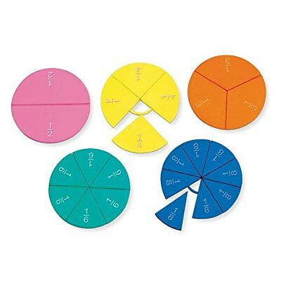 Connecting Plastic Fraction Circles- Math Teaching Aid Teacher Student Classroom