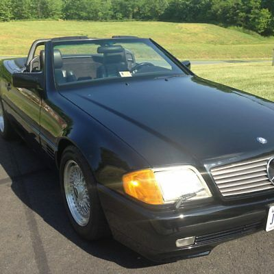 1991 Mercedes-Benz 500-Series leather interior 1991 Mercedes 500 SL Black Convertible