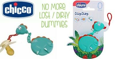 Baby Dummy Holder Chicco Clip Clap 0months New Free Delivery