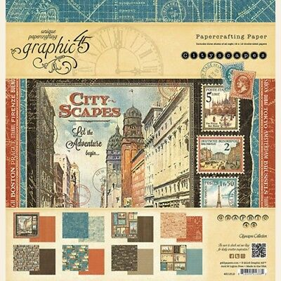 GRAPHIC 45 Cityscapes 12 x 12 Pad NEW!!