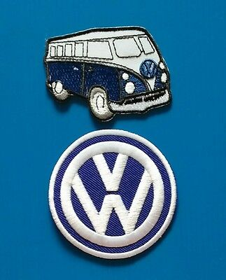 "2  VOLKSWAGEN VW AVERAGE 3."" BUS  Embrodered Iron Or Sewn On Patches Free Ship"
