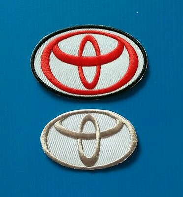 2  LOT TOYOTA   3.5 X 2.25 Inches  Patches  Free Ship