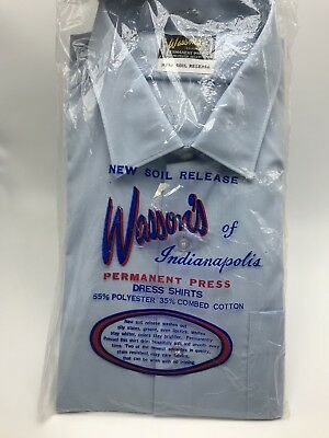 Vintage Wasson's Light Blue Mens Shirt  16-35 NEW Old Stock