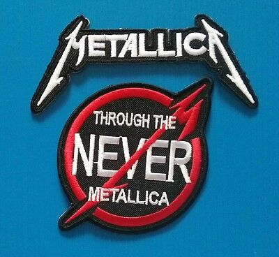 2 METALLICA THROUGH THE NEVER Embroidered Sewn On Iron On  Patches Free Ship