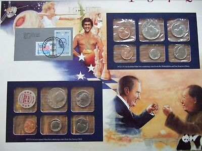 1972 US Uncirculated Coin Mint Set Collection Postal Commemorative Society