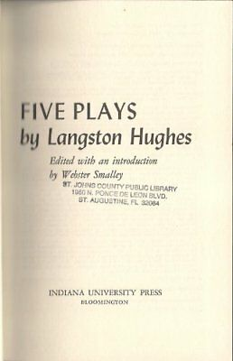 FIVE PLAYS BY LANGSTON HUGHES By Webster Smalley - Hardcover **BRAND NEW**