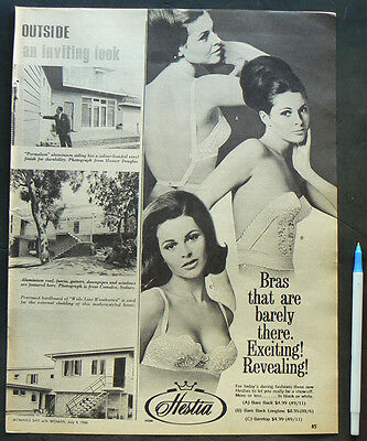 1966 vintage ad HESTIA BRA original advertisement lingerie fashion advert bras