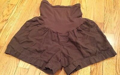 EUC Oh Baby by Motherhood Brown Maternity Shorts - Sz M