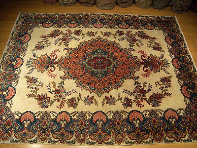 8 x 11.2 Handmade Hand Knotted Antique VINTAGE 1930s Persian Oriental Wool Rug