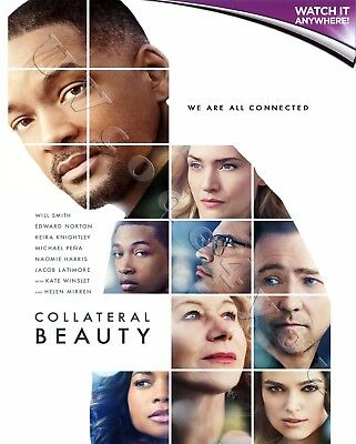 COLLATERAL BEAUTY * Digital HD Ultraviolet UV Code ONLY * Instant Code 24/7