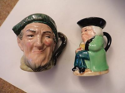 3 Toby jugs Royal Doulton Auld Mac Snuffy Burlington Ware by J. Shaw & Son + ano