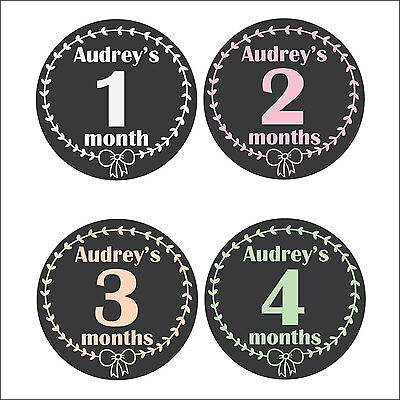 Personalised Monthly Baby Stickers, Milestone Stickers, Baby Shower Gift_G008